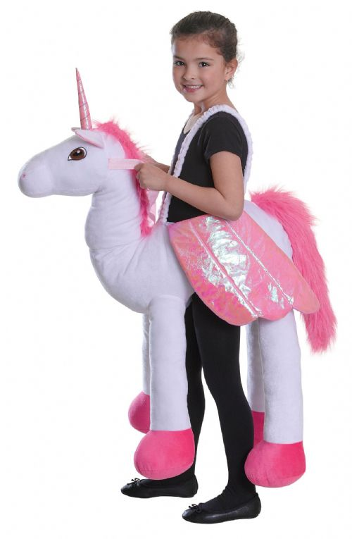 Childs Riding Unicorn Costume Fairytale Nursery Rhyme Fancy Dress Outfit